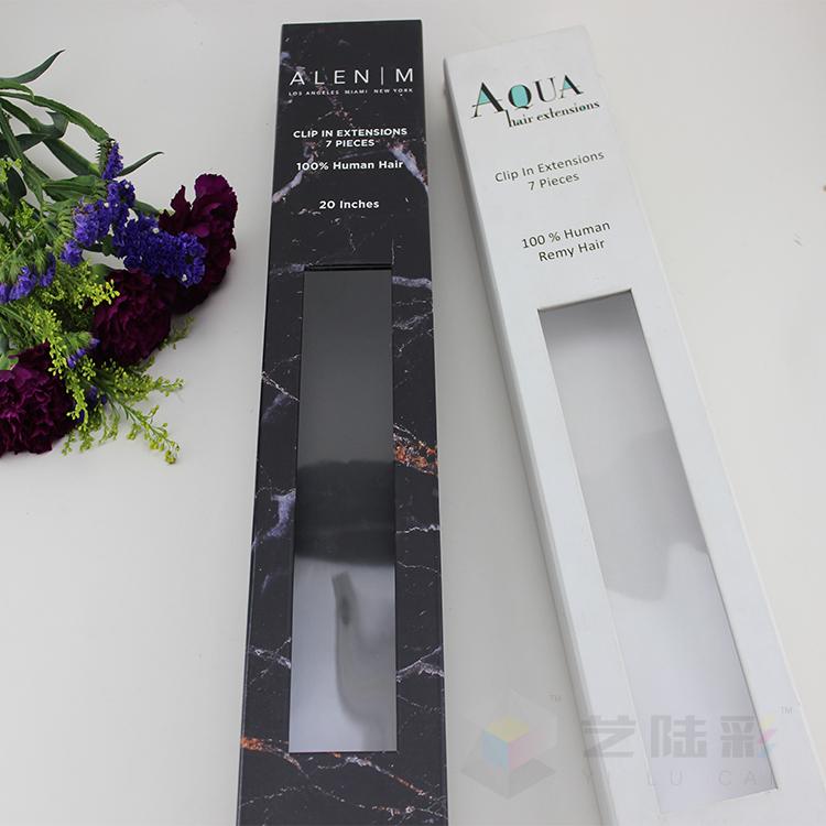 Yilucai Hair Bow Packaging Box Factory China Hair Weave Packaging