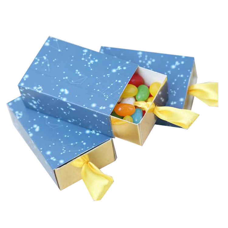 Yilucai Cute Candy Box With A Drawer And Gold Ribbon